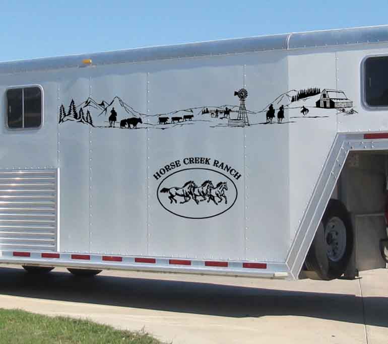 Western Graphics Distinctive Decals For The Equine Industry